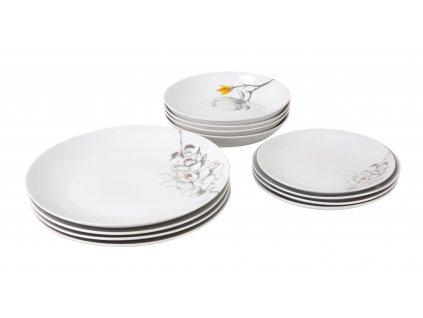 Sada talířů 12 ks z kolekce TWIG od by inspire.