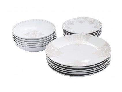 Jídelní souprava 18 ks z kolekce porcelánu BAROKO od by inspire.