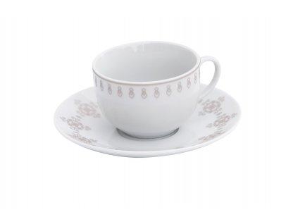 Šálek s podšálkem 150 ml z kolekce porcelánu BAROKO od by inspire 7686-00-25