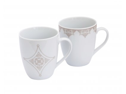 Porcelánový kávový hrnek, set 2 ks, objem 350 ml z kolekce porcelánu BAROKO od špičkové české značky by inspire.
