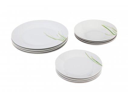 Jídelní souprava talířů 12 ks - GRASS
