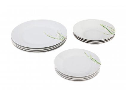 Souprava talířů 12 ks GRASS od by inspire