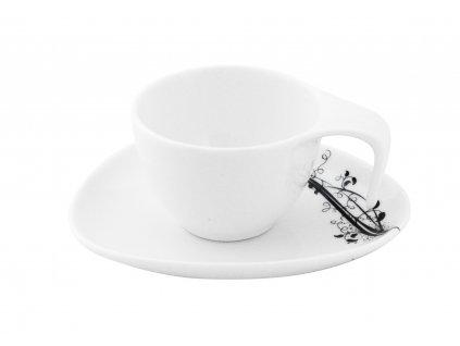 Presso šálek s podšálkem 75 ml z kolekce porcelánu BLACK od by inspire 7720-00-02
