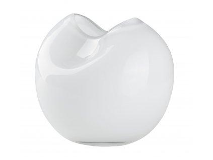 Skleněná váza 14x14x13cm bílá