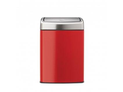 Odpadkový koš  10 l Touch Bin® čtvercový - zářivě červená
