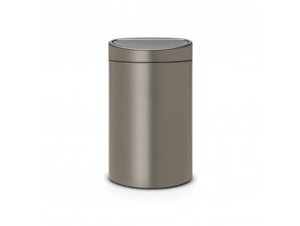 Koš na tříděný odpad  10+23 l Touch Bin Recycle - platinová