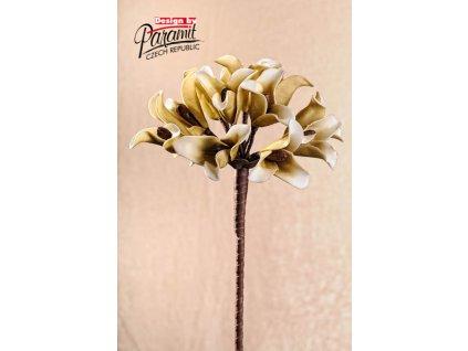 Dekorativní květina hnědá - Paramit - 3-74B