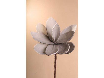 3 81GY Aranžovací květina šedá 18 cm