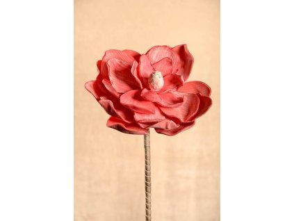 3 42PI Aranžovací květina magnolie růžová 75 cm