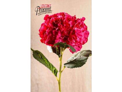 Dekorativní květina hortenzie sytě růžová - Paramit - F105-P3
