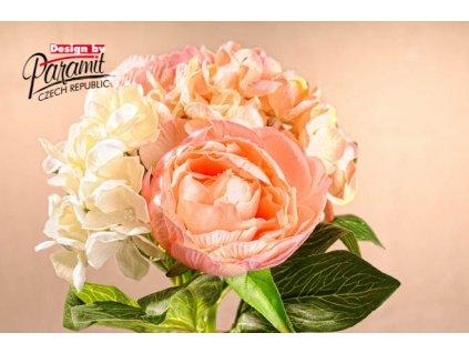 Dekorativní kytice broskvová - Paramit - 3-86A - 3-86A
