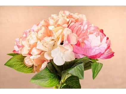 3 86PI Aranžovací kytice růžová 30 cm