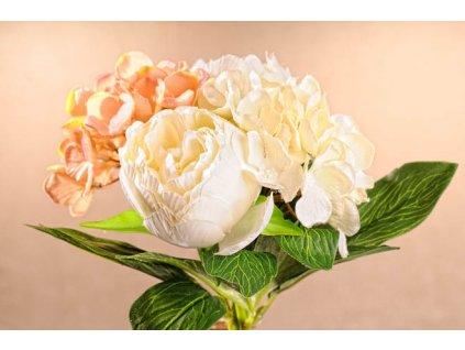 3 86W Aranžovací kytice bílá 30 cm