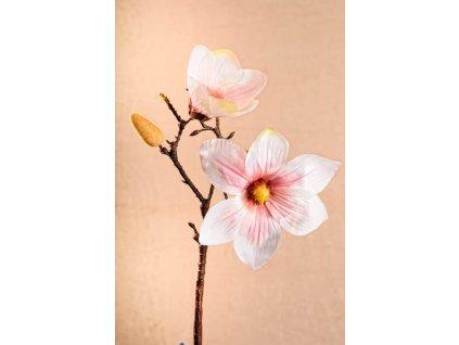 3 87P1 Aranžovací květina magnolie světle růžová 46 cm