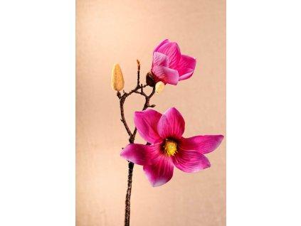 3 87P3 Aranžovací květina magnolie sytě růžová 46 cm