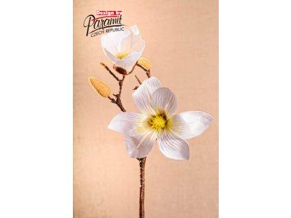 Dekorativní květina magnolie bílá - Paramit - 3-87W