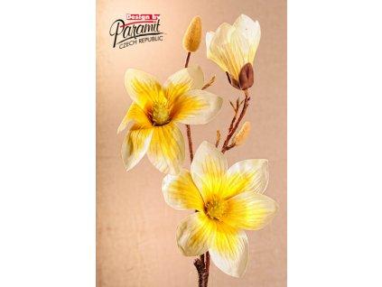 Dekorativní květina magnolie žlutá - Paramit - 3-88Y