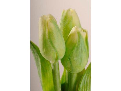 107G Francouzský umělý tulipán zelený 40 cm