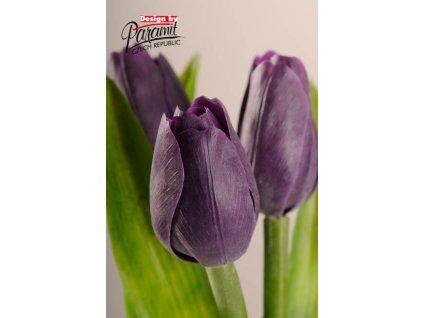 Dekorativní květina francouzský tulipán fialová - Paramit - 107V