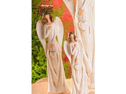 Figurka Anděl Líba se srdcem 21 cm - Paramit - X060-21