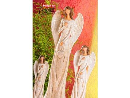 Figurka Anděl Líba se srdcem 40 cm - Paramit - X060-40
