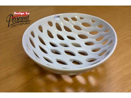 Děrovana miska bílá 22 cm - Paramit - 12083-22W