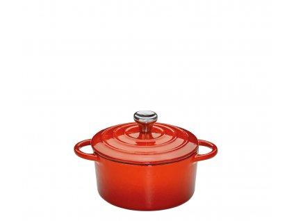Litinový hrnec kulatý PROVENCE červený - 10 cm - Küchenprofi - 0401001410
