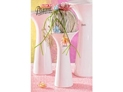 12071 20W Eleanor Bílá váza 20 cm Paramit