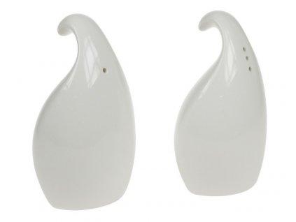 Porcelánová menáž sůl/pepř plamen bílá - by inspire