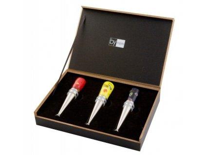 Set zátek na víno s benátským sklem 3 ks - by inspire