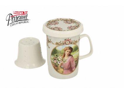 H74 Hrnek na čaj se sítkem a víčkem Valery od Paramit