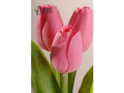 107P1 Francouzský tulipán světle růžový 40cm