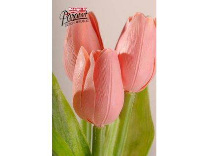 107P7 Francouzský tulipán retro růžový 40cm