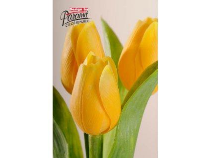 107Y2 Francouzský tulipán jasně žlutý 40cm