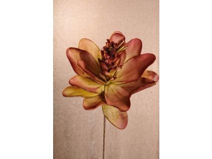 3 112GR Umělá květina zeleno červená 80 cm