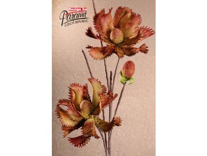 3 114GR zeleno červená květina od Paramit