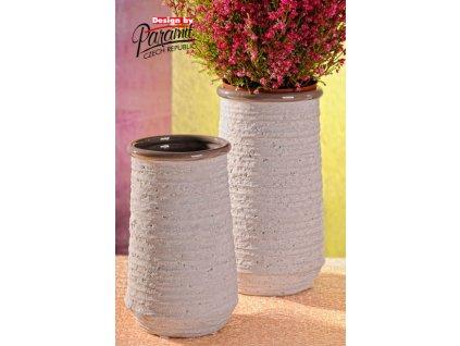 325 21GY váza natur šedá 21cm