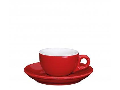 Šálek s podšálkem ROMA červený 50 ml