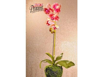 F71422 umělá květina orchidea 58cm růžová