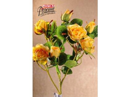 F74001 umělé růžičky 65 cm zluté