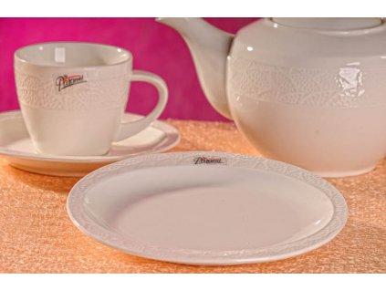 Dezertní talíř bílý 18,5 cm - Lísteček