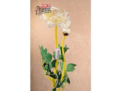F82048 umělá květina pryskyřník 49cm bilá