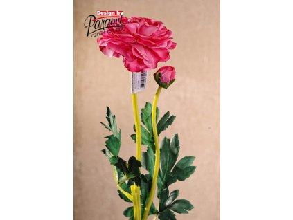 F82432 umělá květina pryskyřník 49cm růžová