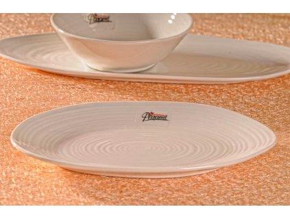Dezertní talíř bílý 19x12 cm - Nelson