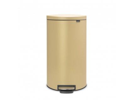Pedálový koš 30 l FlatBack+ - minerální zlatá - Brabantia - 119583