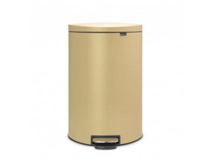 Pedálový koš 40 l FlatBack+ - minerální zlatá - Brabantia - 119644