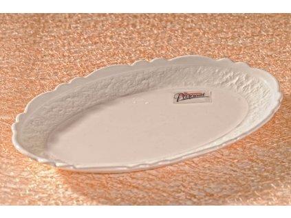 Dezertní talíř bílý 18 cm - Krajka