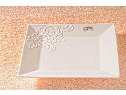 Ornament dezertní talíř bílý 21 cm