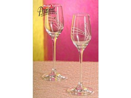 B3895 2 dvojice sklenic na likéry 95 ml
