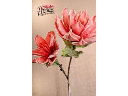 3 120P1 květina dekoraitvní 85 cm růžová